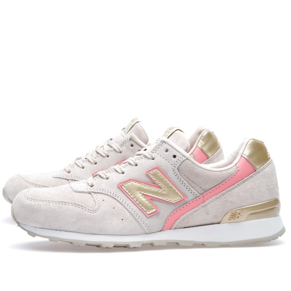 Femme New Balance 996 x Beauty & Youth Chaussures De Sport Or Sable Rose WR996BYA