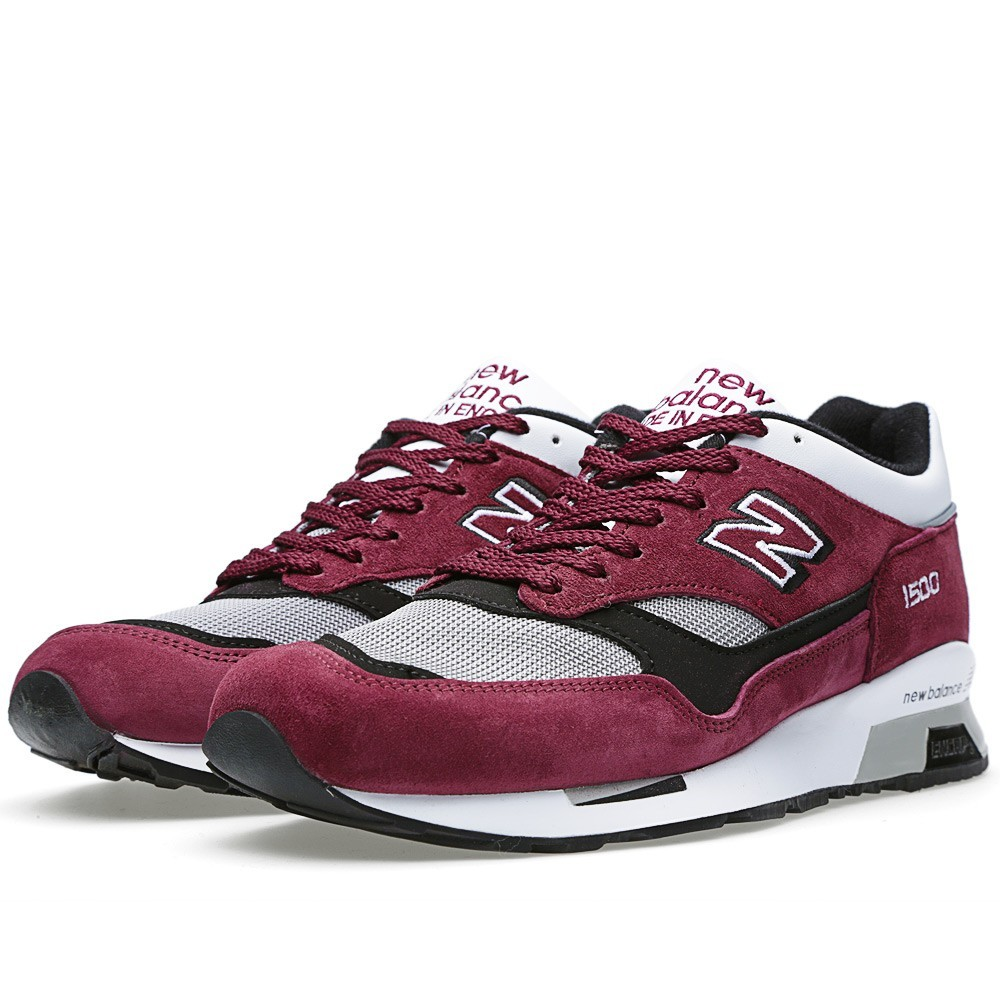 New Balance 1500 - Made In England Hommes Chaussure Pour Courir Bourgogne/Blanc M1500PRW