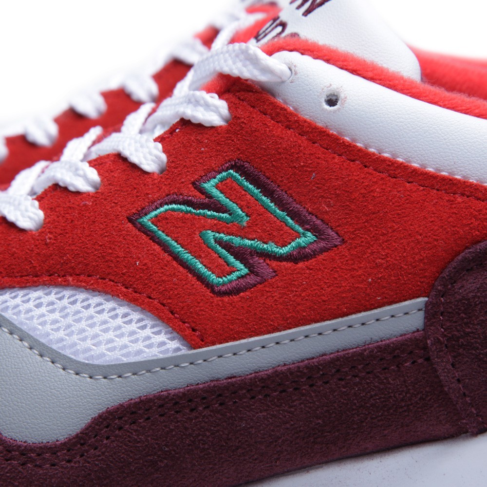 New Balance 1500 - Made In England Homme Chaussures Noir/Blanche/Rouge Bourgogne Gris M1500BRT