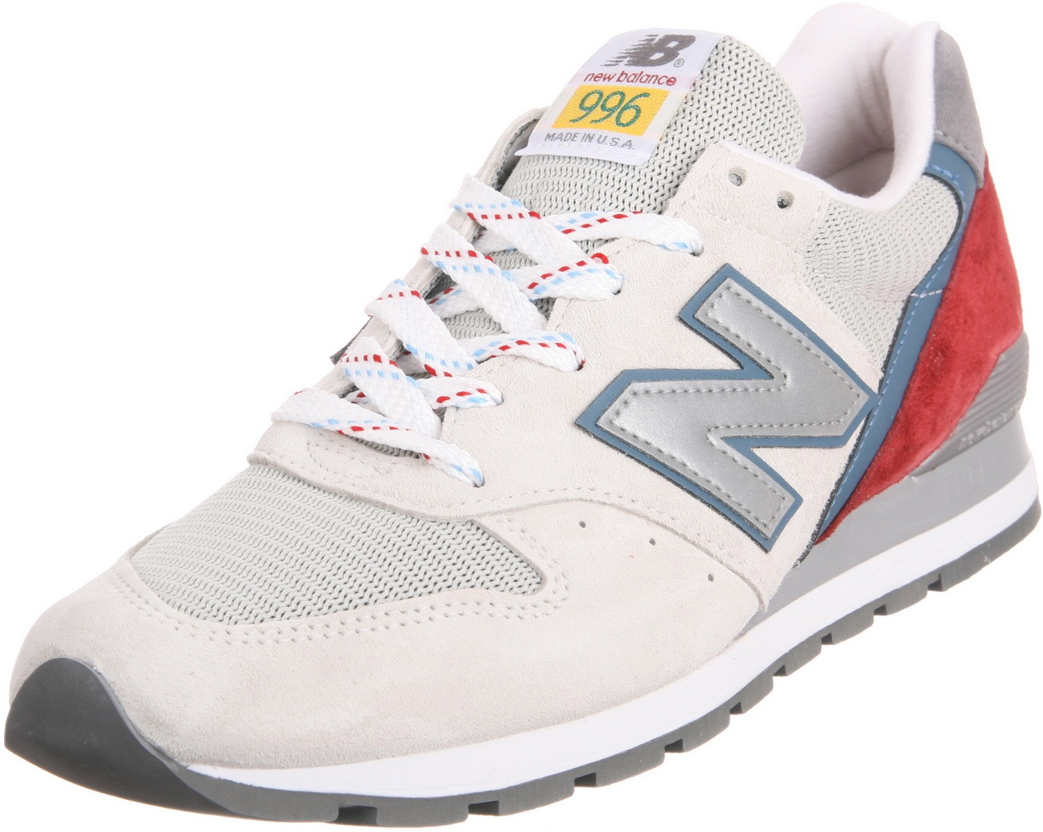 New Balance 996 National Parks Hommes Sneakers Tan Avec Aster Bleu/Rouge M996PD