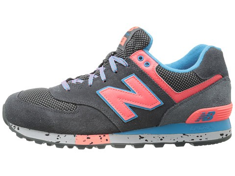 Homme New Balance Classics ML574 - Outdoor Collection Trainers Gris Foncé/Rose Pêche/Bleu