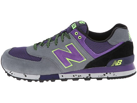Unisex New Balance Classics ML574 - Outdoor Collection Chaussures De Sport Gris Foncé/Violet/Volt