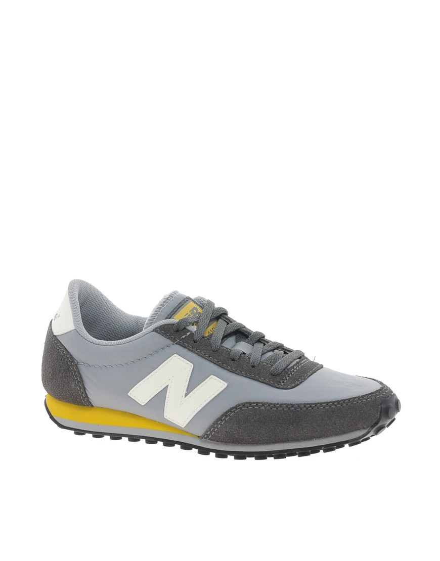 Homme New Balance 410 Classics Chaussures Gris/Pierre/Blanche/Jaune