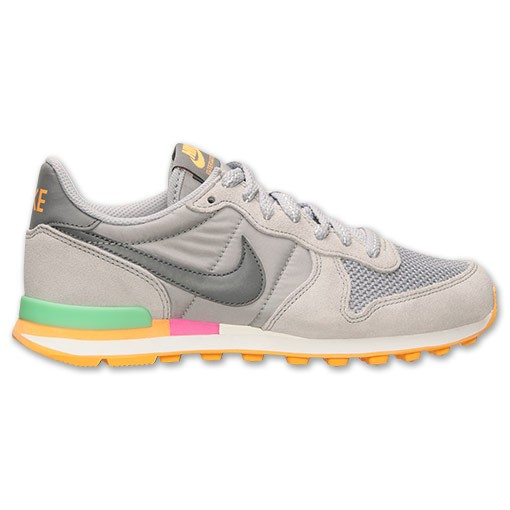 Nike Internationalist Femmes Chaussures Running Loup Gris/Froid Gris/Vert Clair Lucide 629684 001