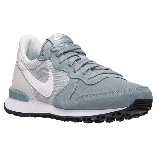 Femme Nike Internationalist Trainers Colombe Gris/Blanche/Platine Pur 629684 011