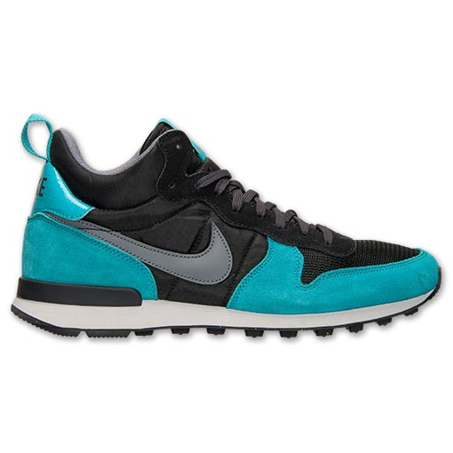 Homme Nike Internationalist Mid Sneakers Photo Bleu/Noir/Gris 682844 003