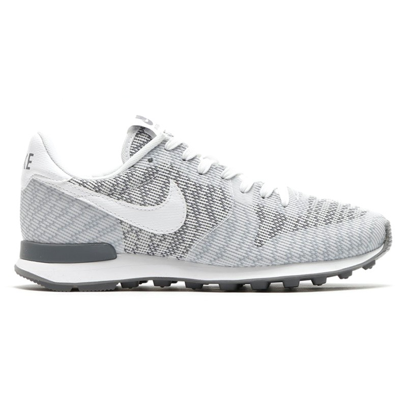 Nike Internationalist Jacquard Sneakers Pour Femme Blanche/Gris/Blanche Froid 718671_100