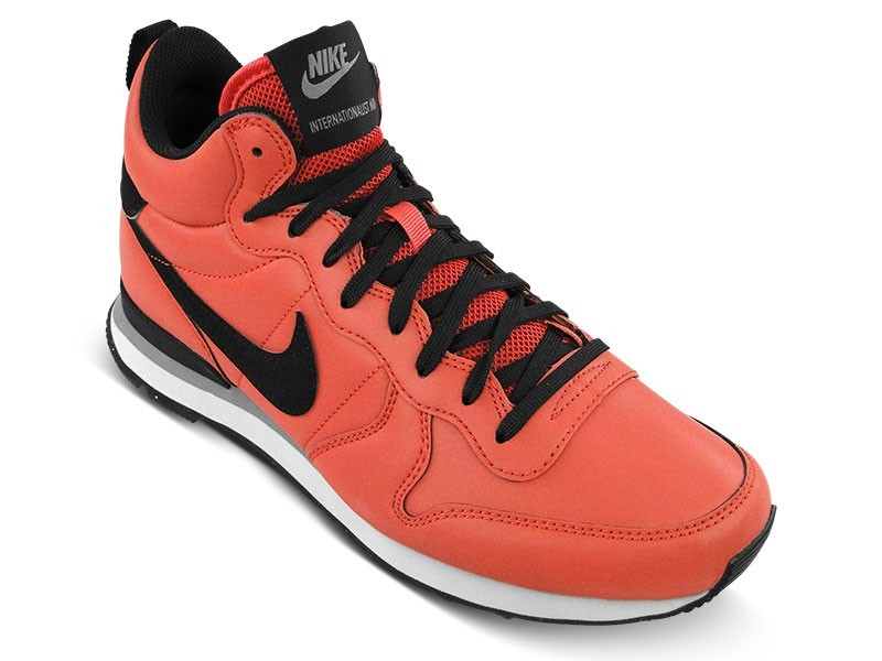 Femme Nike Internationalist Mid QS Reflective Sneakers Argile Rouge/Noir 696424 600