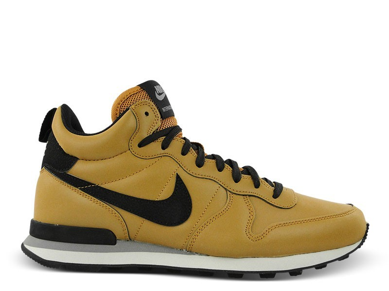 Homme Nike Internationalist Mid QS Reflective Chaussures De Sport Bronze/Noir 696424 700
