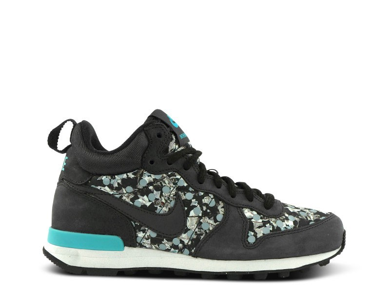 Nike Internationalist Mid Liberty Of London x LIB QS Trainers Pour Femme Cendres Foncé/Noir Aile Cendres-Argent 704846 200