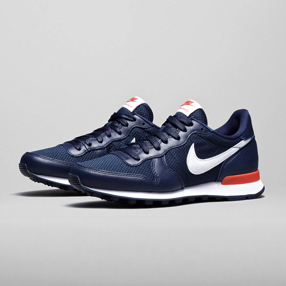Nike Internationalist QS French Open Pack Sneakers Pour Femme Minuit Marine/Équipe Orange/Blanc 807148-400