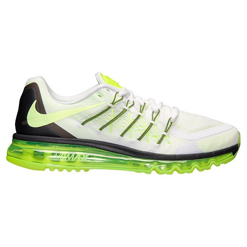 Nike Air Max 2015 Homme Sneakers Blanche/Noir-Volt 698902-107
