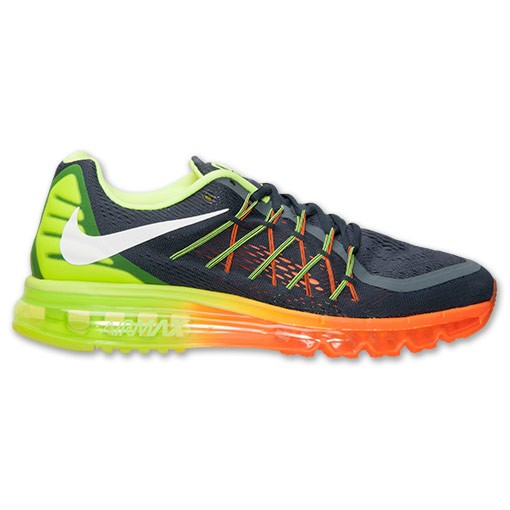 Homme Nike Air Max 2015 Trainers Classique Charbon/Volt/Orange Totale 698902 002