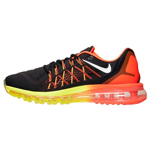 Homme Nike Air Max 2015 Chaussure Pour Courir Noir/Blanche/Rouge Hyper/Jaune 698902 004
