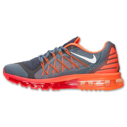 Nike Air Max 2015 Homme Sneakers Graphite Bleu/Blanche/Orange Totale 698902 418