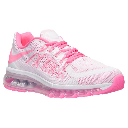 brand new ac011 8e09d ... Fille NIKE AIR MAX 2015 (GS) Chaussure Pour Courir Pow Blanche Rose  ...