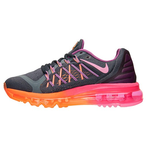 NIKE AIR MAX 2015 (GS) Fille Sneakers Classique Charbon/Orange/Rose 705458 001