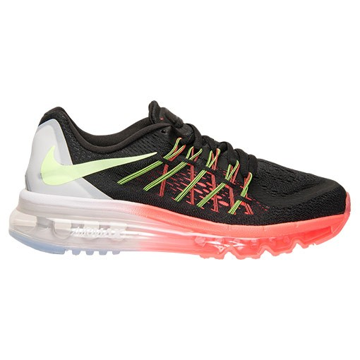 huge selection of 7df6d f24ba NIKE AIR MAX 2015 (GS) Garçon Chaussures De Sport Noir Volt Lave