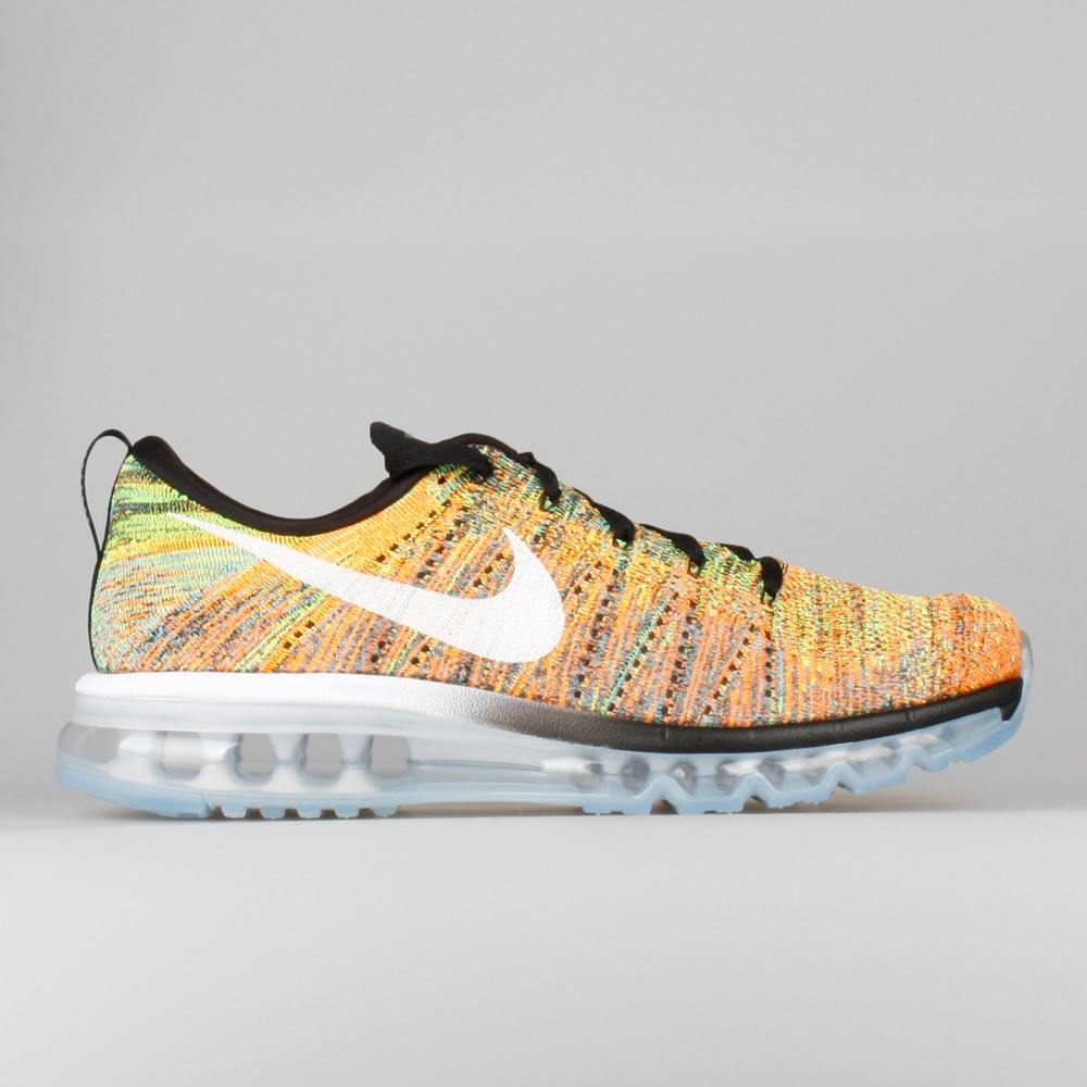 Nike Flyknit Air Max Multi-Color Hommes Chaussure De Running Noir/Blanche/Bleu/Orange Totale 620469-004