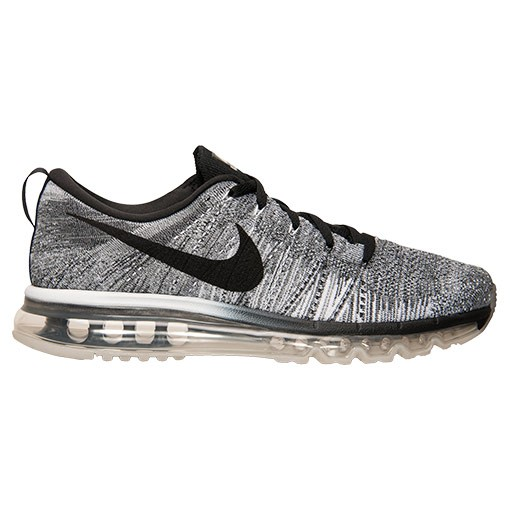 Nike Flyknit Air Max Oreo Homme Chaussures De Sport Blanche/Noir/Gris Clair/Loup Gris 620469-102