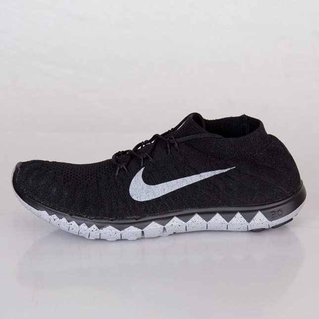 Nike Free Flyknit 3.0 SP Homme Chaussures Running Noir Ciment Gris/ 688507-090