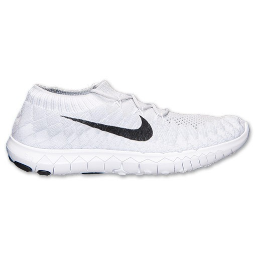 new product 8a8f2 36997 Nike Free Flyknit 3.0 Homme Souliers De Course Platine Pur Noir Blanc  636232 003
