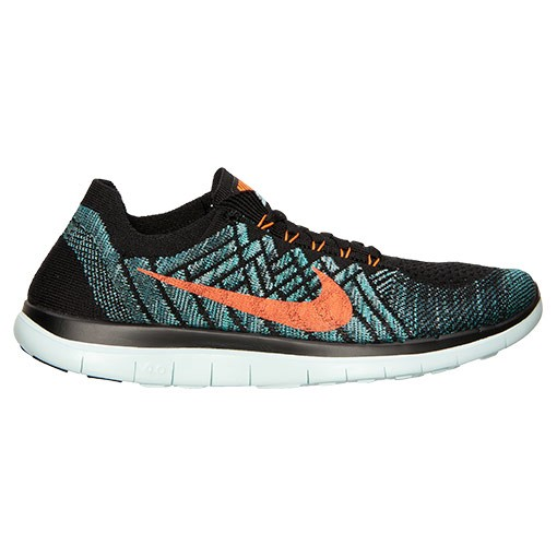 Homme Nike Free 4.0 Flyknit Sneakers Noir/Orange Totale/Facteur De Nuit 717075 002