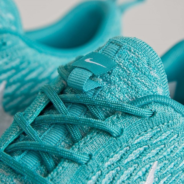 Femme Nike Wmns Roshe run Flyknit Sneakers Turquoise Sport/Turquoise Blanche Hyper 704927-300