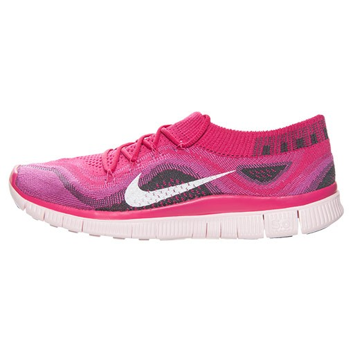 Femme Nike Free Flyknit+ Trainers Fireberry/Blanche Club Rose Gris-Foncé 615806 610