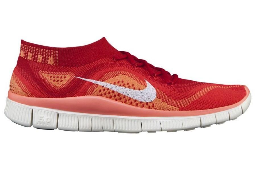 Nike Free Flyknit+ Femmes Chaussures Université Pourpre Rouge/Blanche Lumineux 615806-616