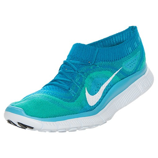 Nike Free Flyknit+ Femme Sneakers Turquoise Néo/Blanc-Bleu Sarcelle Atomique Chlore 615806 413