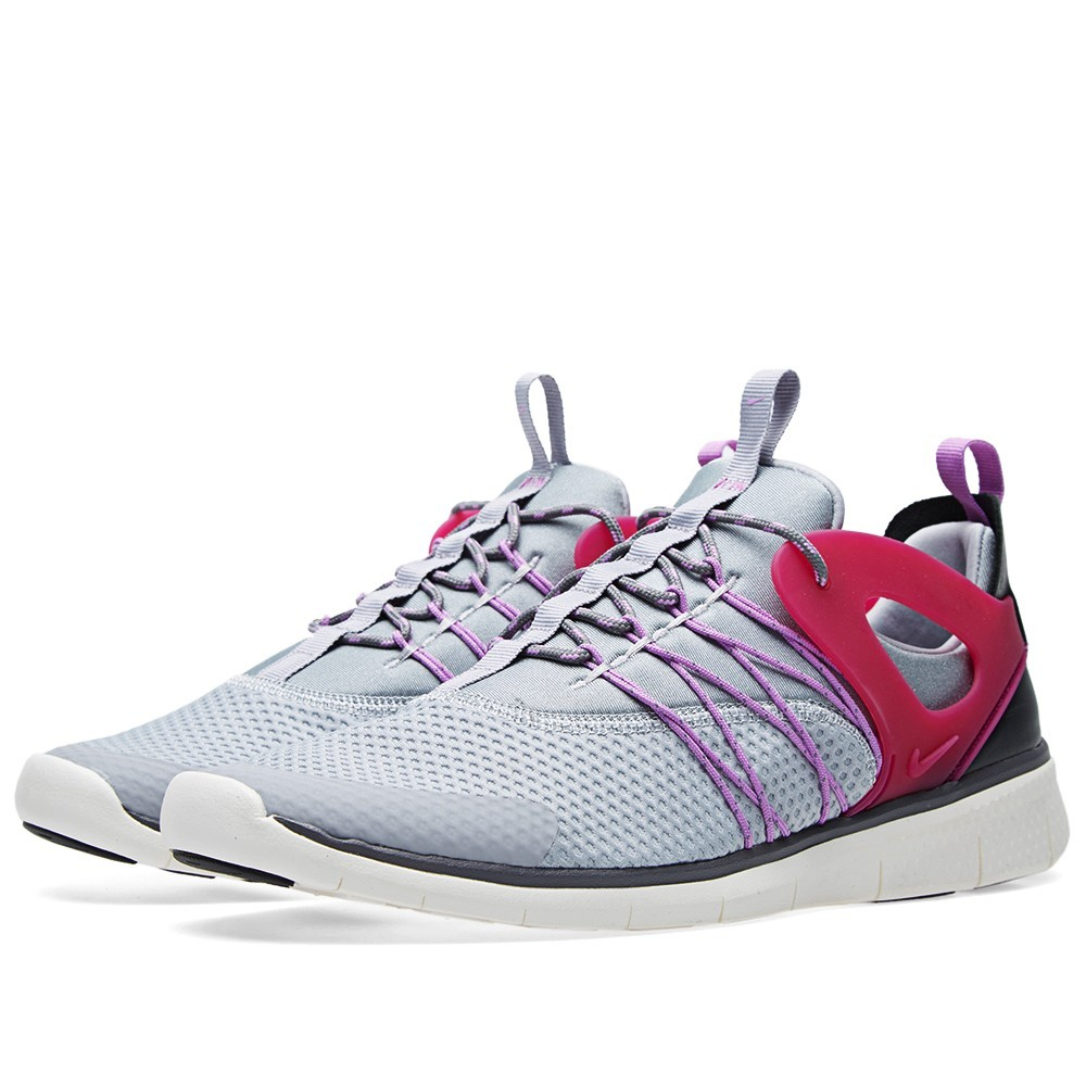 Femme Nike Free Viritous Chaussures Running Le Loup Gris/Fuchsia Éclair/Anthricite 725060 002