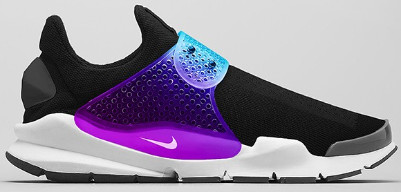 Fragment Design x Nike Sock Dart Sp Black Grape - BE TRUE PACK Hommes Chaussures De Ville Pourpre Blanche Bleu Noir