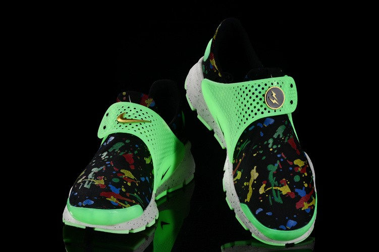 Fragment Design x Nike Sock Dart Sp Splashed Print Unisex Chaussures De Sport Multicolore Noir