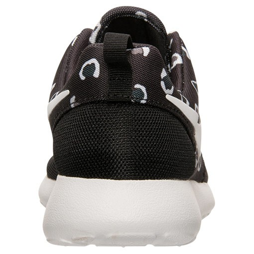 Femme Nike Roshe One Léopard Print Chaussures Noir/Blanche/Anthracite/Gris Clair 599432 019