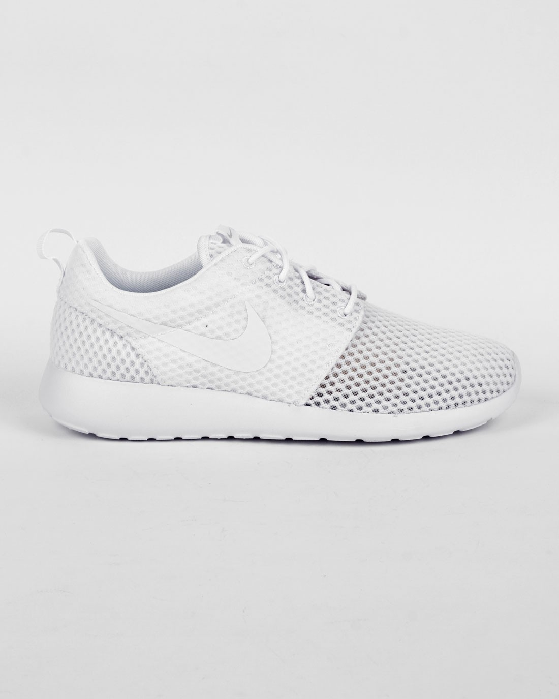 "Nike Roshe One BR (Breeze) ""Monochrome Pack"" Femme Chaussures De Sport Maille Blanche/Tout Blanche/Voile Blanche/Loup Gris 718552-110"