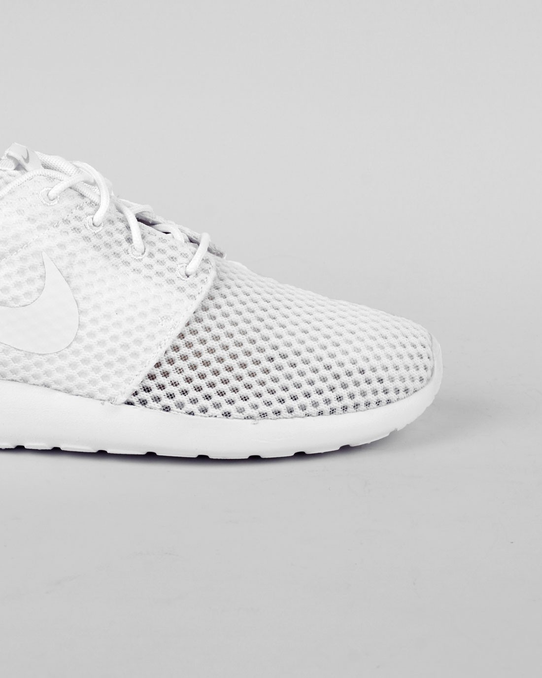 Nike Roshe One BR (Breeze) Monochrome Pack Homme Chaussures De Ville Maille Blanche/Tout Blanche/Voile Blanche/Loup Gris 718552-110