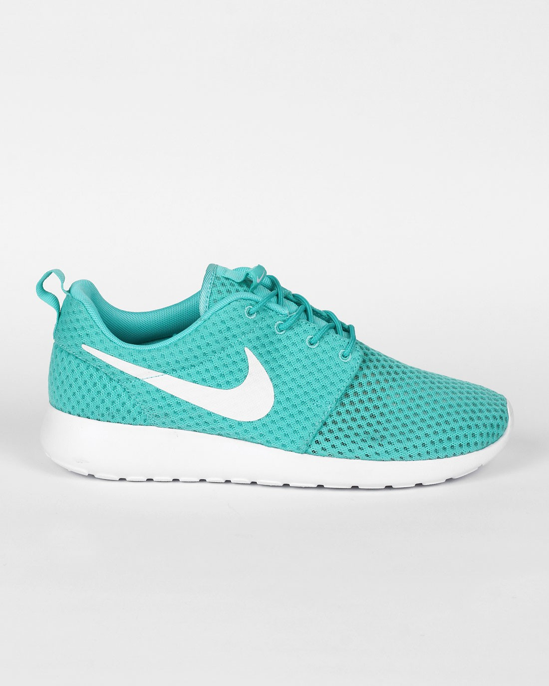 hot sale online c46fd 7cf07 Nike Roshe One BR (Breeze) Calypso Chaussures Pour Femme Blanche Bleu-Vert  718552 ...