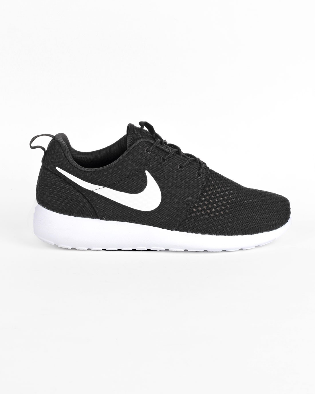 "Femme Nike Roshe One BR (Breeze) ""Monochrome Pack"" Sneakers Noir Blanc 718552-011"