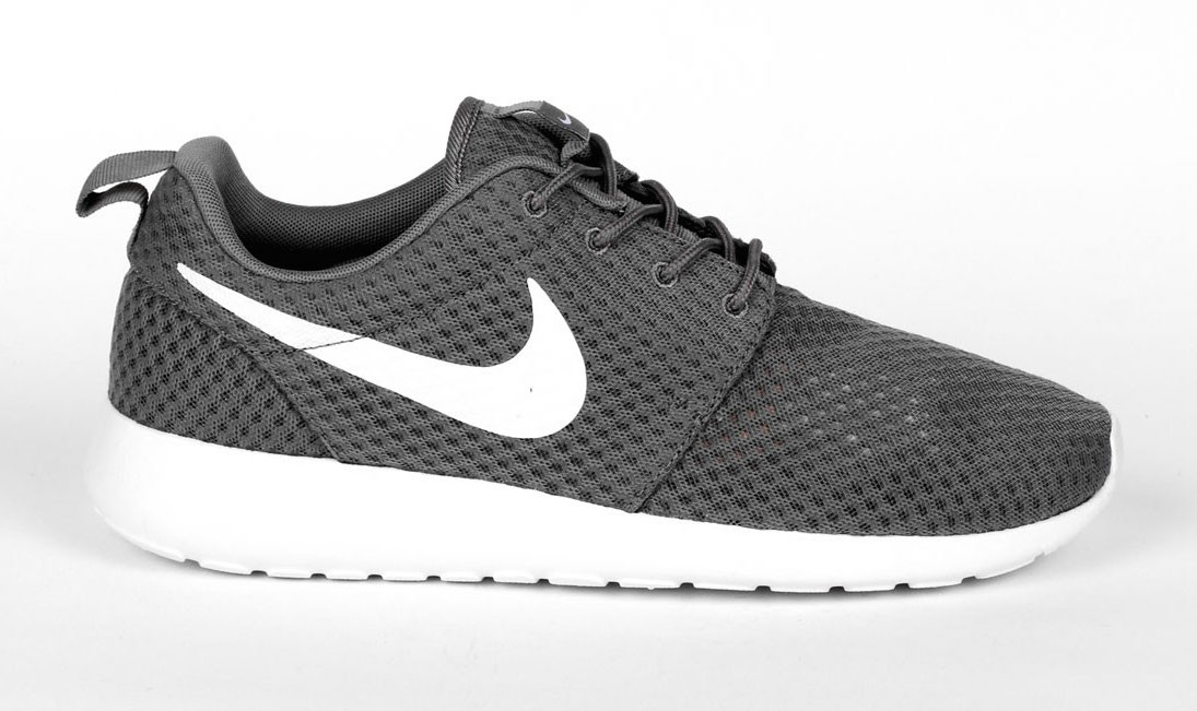 Nike Roshe One BR (Breeze) Monochrome Pack Hommes Sneakers Gris/Blanche Froid 718552-010