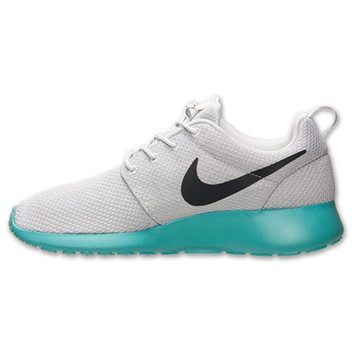 Homme Nike Roshe One Chaussures De Sport Platine Pur/Anthracite/Calypso 511881 013