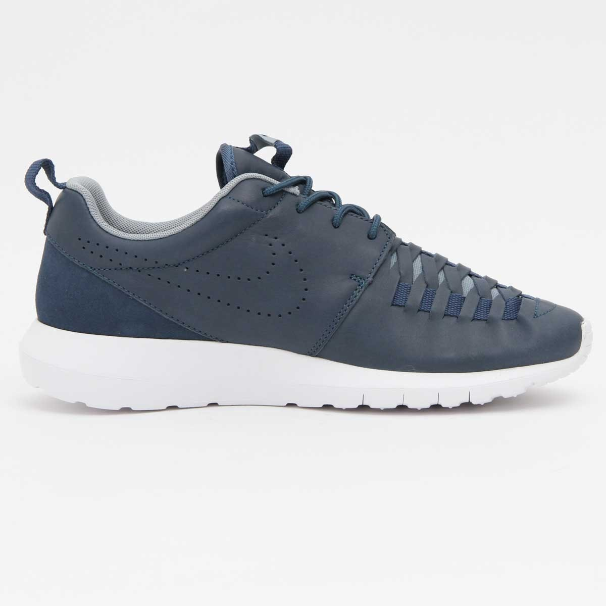 Nike Roshe Run NM Woven Cuir Chaussures Pour Homme Nouvelle Ardoise/Obsidienne Noire 725168-400