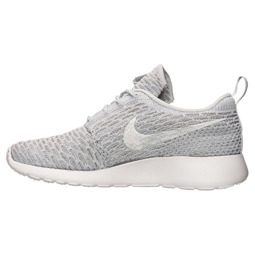 Nike Roshe One Flyknit Trainers Pour Femme Le Loup Gris/Platine/Blanche Pur 704927 002
