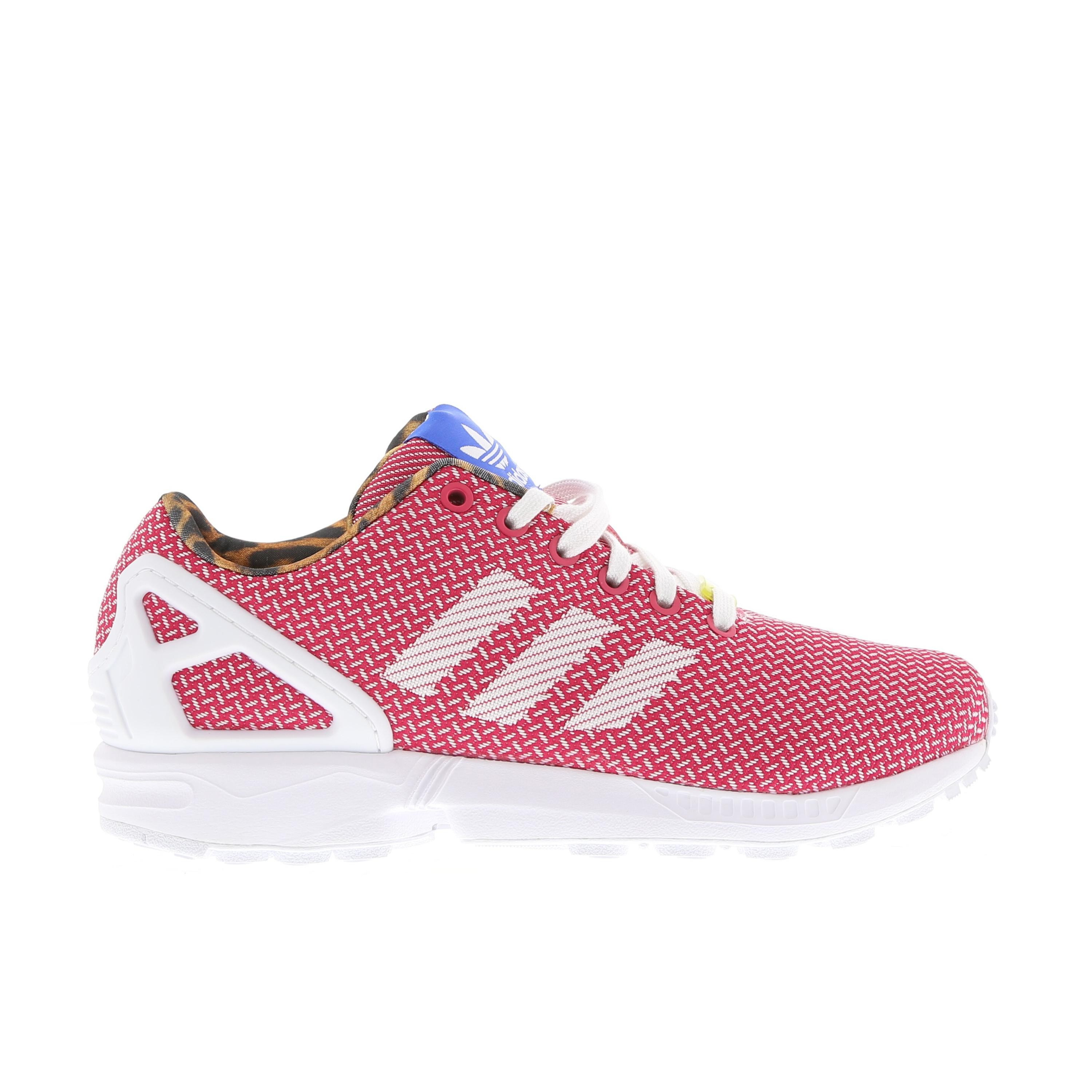 Adidas ZX Flux Weave Femme Sneakers Courir Blanche/Berry Vives/Satellite M21366