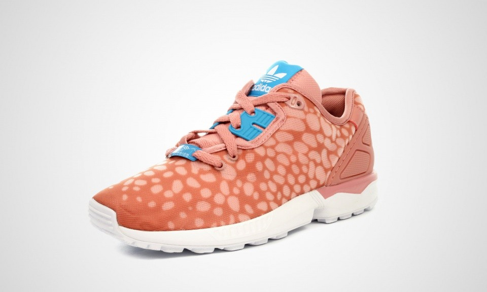 Adidas ZX Flux Deconb Caribbean-inspired print Coral Femme Sneakers Cendres Rose/Aqua Gras/Ftw Blanche B34030