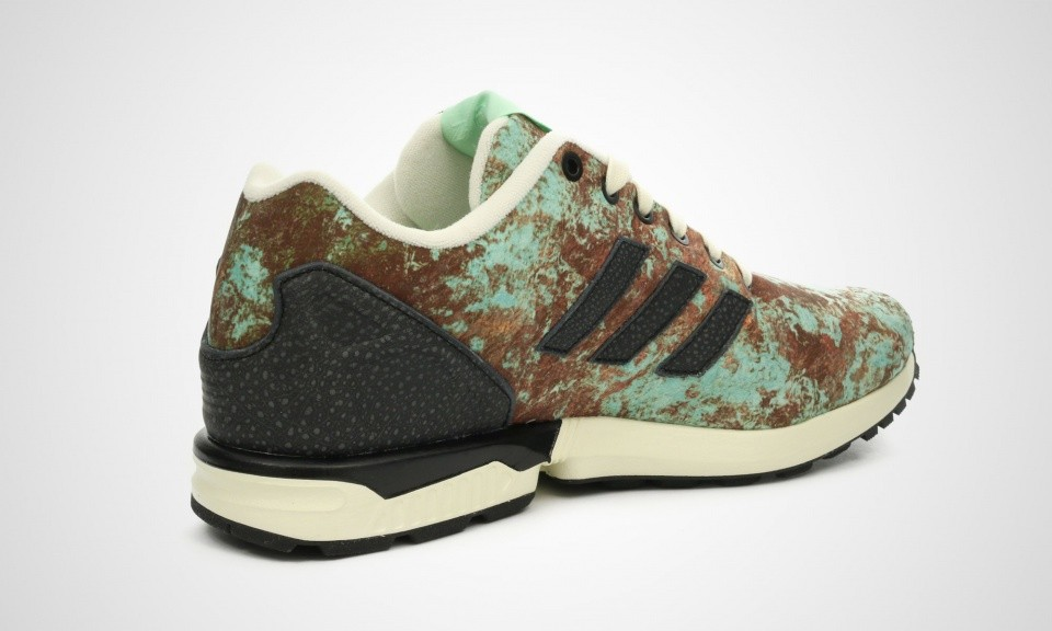 Homme Adidas ZX Flux SNS Brewery Pack - Aged Copper Sneakers Cuivre/Vert Menthe-Noir S82598