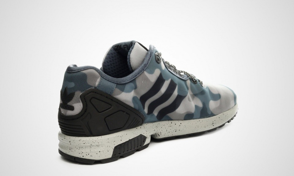 Adidas Originals ZX Flux Decon Camo Homme Chaussures De Ville Multiples Solide Gris/Onix/Noir M19685