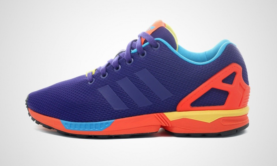 "Homme Adidas ZX Flux ""I Want I Can"" Pack Sneakers Collégiale Rouge Violet/Solaire B34491"