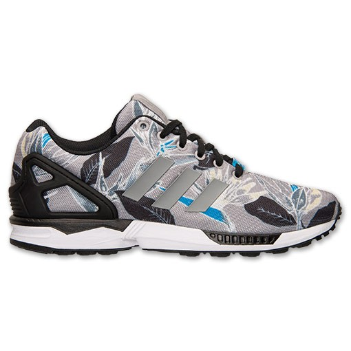 Adidas ZX Flux Fleur Print Hommes Chaussures Onyx Gris Clair/Blanche B34519 GRY