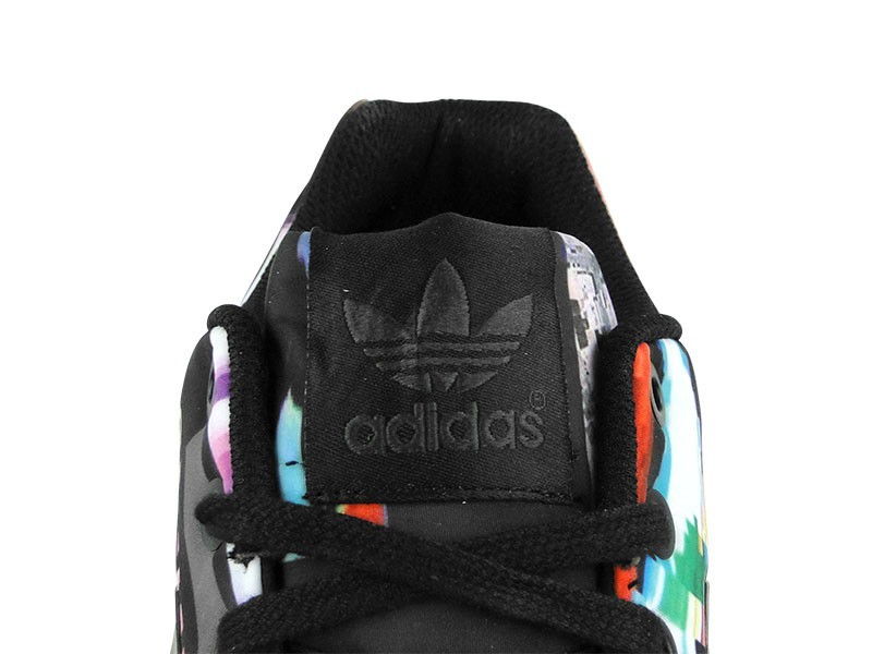 Adidas ZX Flux Cityscape Photo Print Pack Torsion Hommes Trainers Noir/Bleu Vrai/Multicolore M19844